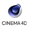 Cinema 4D modelado de 3D animacion icono logo software