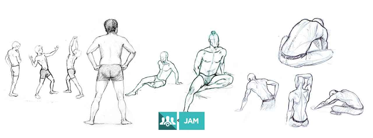 JAM de Modelo Vivo (cuerpo masculino)