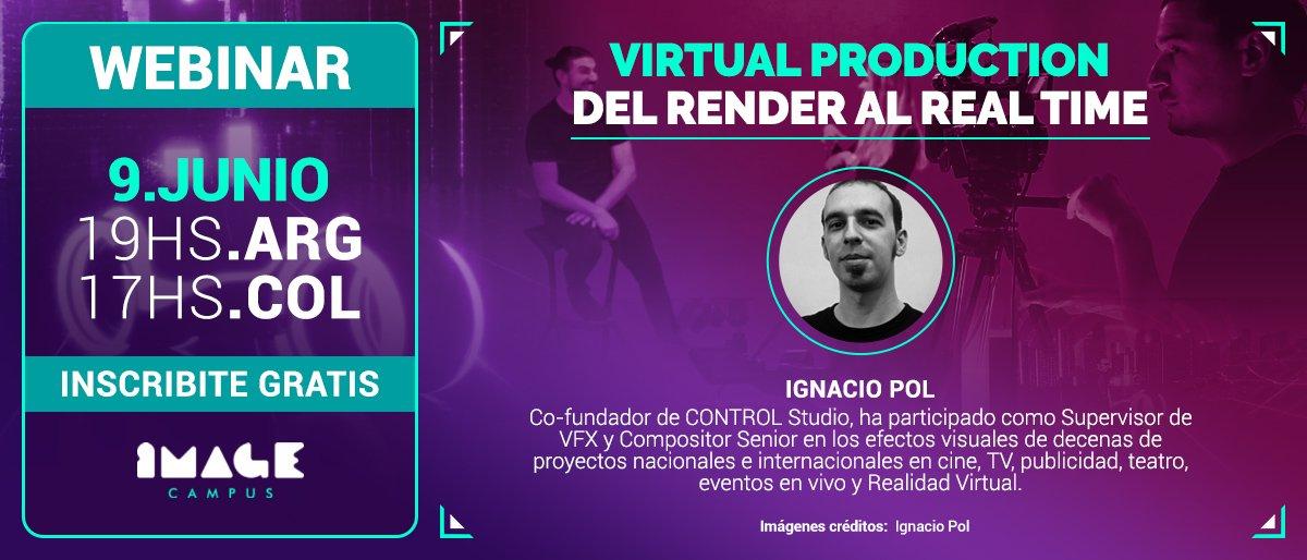 Banner Webinar Virtual Production, del render al real time